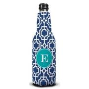 Whitney English Designer Lattice Single Initial Bottle Beverage Sleeve; O