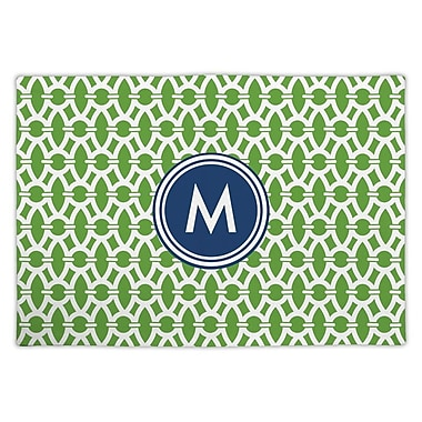 Whitney English Trellis Single Initial Fabric Placemat; U
