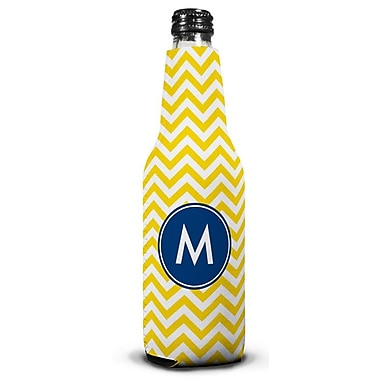 Boatman Geller Chevron Single Initial Bottle Beverage Sleeve; J