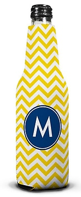 Boatman Geller Chevron Single Initial Bottle Beverage Sleeve; A