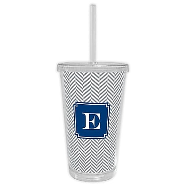 Boatman Geller Herringbone Single Initial Beverage Tumbler; U
