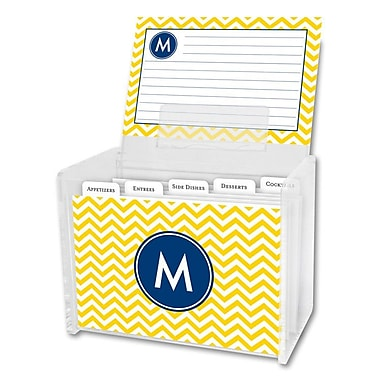 Boatman Geller Chevron Single Initial Recipe Box; W