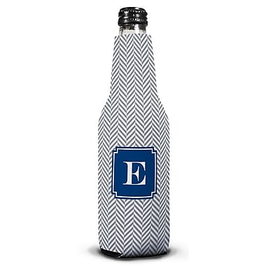 Boatman Geller Herringbone Single Initial Bottle Beverage Sleeve; R