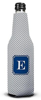 Boatman Geller Herringbone Single Initial Bottle Beverage Sleeve; N