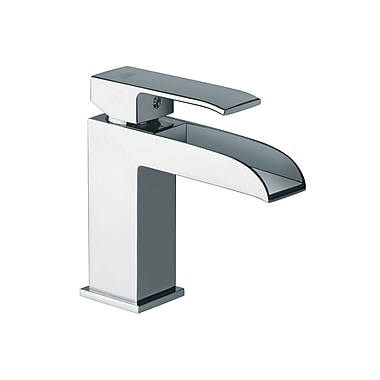 WS Bath Collections Fonte Single Handle Bathroom Sink Faucet; Polished Chrome
