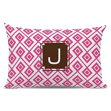 Dabney Lee Lucy Single Initial Cotton Lumbar Pillow; T