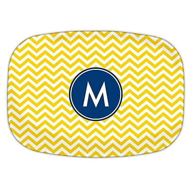 Boatman Geller Chevron Single Initial Melamine Plate; V