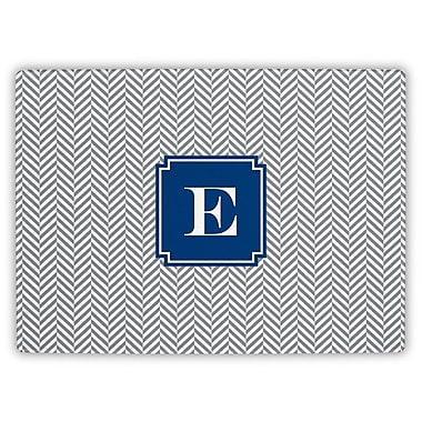 Boatman Geller Herringbone Single Initial Cutting Board; M
