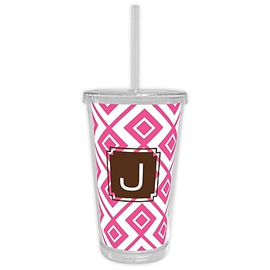 Dabney Lee Lucy Single Initial Beverage Tumbler; H