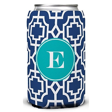 Whitney English Designer Lattice Single Initial Can Beverage Sleeve; D