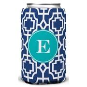 Whitney English Designer Lattice Single Initial Can Beverage Sleeve; M