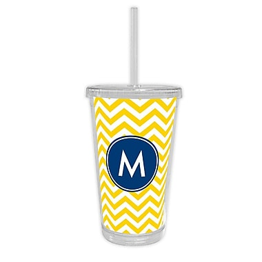 Boatman Geller Chevron Single Initial Beverage Tumbler; H