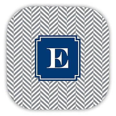 Boatman Geller Herringbone Single Initial Cork Coaster (Set of 4); M