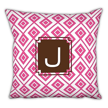 Dabney Lee Lucy Single Initial Cotton Throw Pillow; M