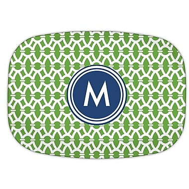 Whitney English Trellis Single Melamine Initial Plate; C