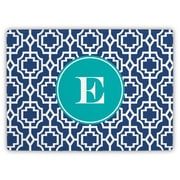 Whitney English Designer Lattice Single Initial Cutting Board; U