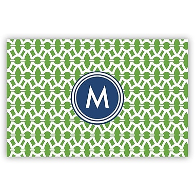 Whitney English Trellis Laminated Single Initial Placemat; N