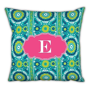 Whitney English Suzani Single Initial Cotton Throw Pillow; G