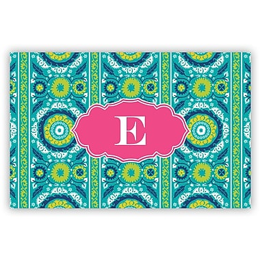 Whitney English Suzani Single Initial Laminated Placemat; H