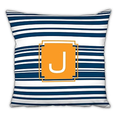 Dabney Lee Block Island Single Initial Cotton Throw Pillow; A