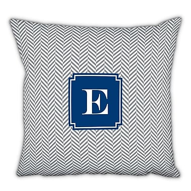 Boatman Geller Herringbone Single Initial Cotton Throw Pillow; Y