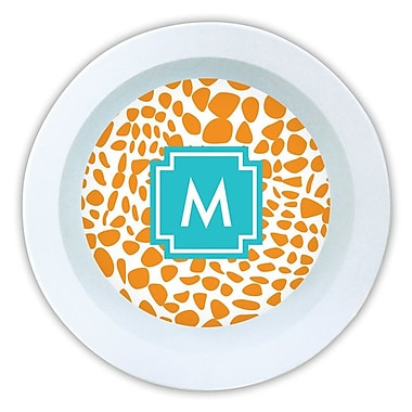 Whitney English Lizard Single Initial Melamine Serving Bowl; M