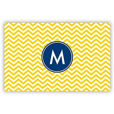 Boatman Geller Chevron Single Initial Laminated Placemat; S
