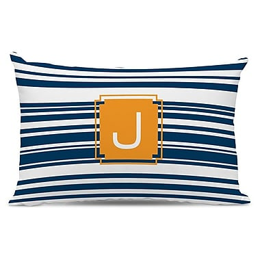 Dabney Lee Block Island Single Initial Cotton Lumbar Pillow; O