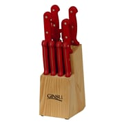 Ginsu Essential Series 10 Piece Block Set; Pomegranate Red