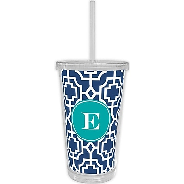 Whitney English Designer Lattice Single Initial Beverage Tumbler; U