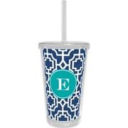 Whitney English Designer Lattice Single Initial Beverage Tumbler; A