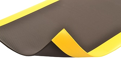 Superior Manufacturing NoTrax Razorback Mat, 3' x 12', Black/Yellow (406S0312BY)