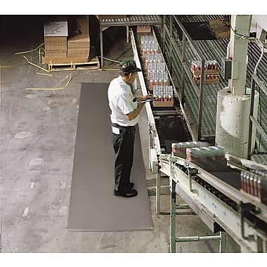 Superior Manufacturing NoTrax Bubble Sof-Tred, 3' x 12', Gray (417S0312GY)