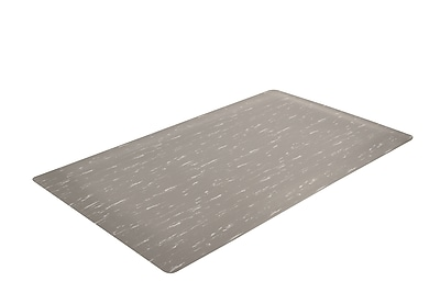 Superior Manufacturing Akro Marble Tuff Mat, 3' x 5', Gray (511S0035GY)