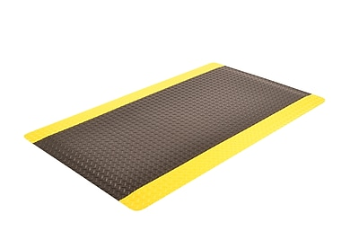 Superior Manufacturing NoTrax Cushion Trax Ultra Mat, 3' x 12', Yellow/Black (975S0312YB)