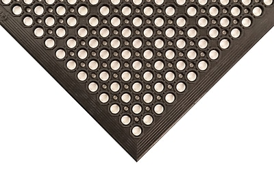 Superior Manufacturing Apex Tek-Tough Jr Mat, 3' x 15', Black (T14S0315BL)