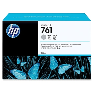 HP 761 Ink Cartridge, Inkjet, OEM, Gray, (CM995A)