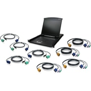 "Iogear® 19"" Rack-Mount LCD with USB KVM Cable, Black (GCL1908KIT)"