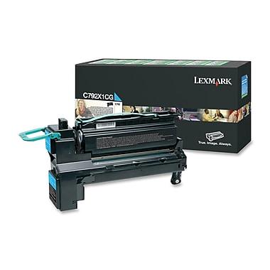 Lexmark – Cartouche de toner du programme de retour, laser, rendement élevé, fabricant d'origine, cyan, (C792X1CG)