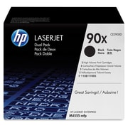 HP 90X (CE390XD) Black High Yield Original LaserJet Toner Cartridges, 2/Pack