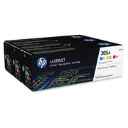 HP 305A (CF370AM) Cyan, Magenta & Yellow Original LaserJet Toner Cartridges, 3 pack