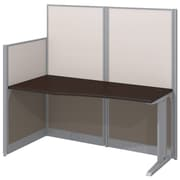 Bush Business Furniture Office in an Hour 65W x 33D Straight Workstation, Mocha Cherry (WC36892-03KFA)