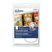 "Avery Dissolvable Oval Labels, 2 1/4"" x 1 1/4"", 60/Pack"