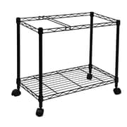 Oceanstar 1MRC1491 Portable 1-Tier Metal Rolling File Cart, Black