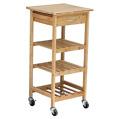 Oceanstar BKC1378 Bamboo Kitchen Trolley