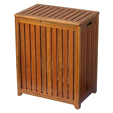 Oceanstar TRH1330 Solid Wood Spa Hamper