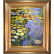 Tori Home 'Water Lilies' by Claude Monet Framed Oil Painting Print on Canvas