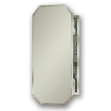 Jensen Metro 15.125'' x 31.25'' Recessed or Surface Mount Medicine Cabinet