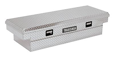 Lund Inc. Full Lid Cross Bed Truck Tool Box; Silver