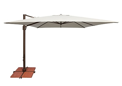 SimplyShade Bali 10' Square Cantilever Umbrella; Sunbrella / Antique Beige WYF078277988383